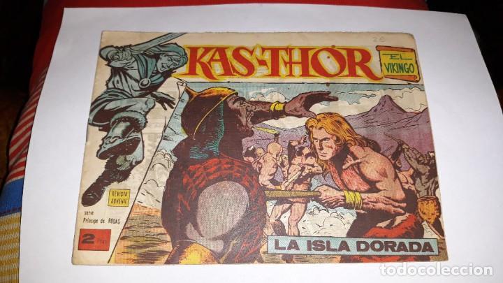KAS -THOR Nº 10 LA ISLA DORADA, EDITORIAL MAGA ,, ORIGINAL 1963 (Tebeos y Comics - Maga - Otros)