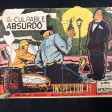 Tebeos: INSPECTOR H Nº 10 UN CULPABLE ABSURDO. Lote 196635468