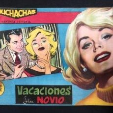 Tebeos: MUCHACHAS - VACACIONES SIN NOVIO - ORIGINAL DE 1960. Lote 196652090