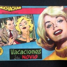 Tebeos: MUCHACHAS - VACACIONES SIN NOVIO - ORIGINAL DE 1960. Lote 196652158
