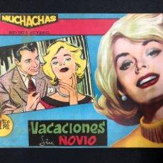 Tebeos: MUCHACHAS - VACACIONES SIN NOVIO - ORIGINAL DE 1960. Lote 196652318