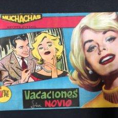 Tebeos: MUCHACHAS - VACACIONES SIN NOVIO - ORIGINAL DE 1960. Lote 196652370