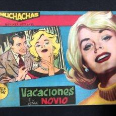 Tebeos: MUCHACHAS - VACACIONES SIN NOVIO - ORIGINAL DE 1960. Lote 196652422
