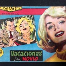 Tebeos: MUCHACHAS - VACACIONES SIN NOVIO - ORIGINAL DE 1960. Lote 196652497