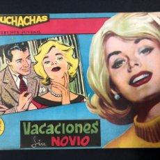 Tebeos: MUCHACHAS - VACACIONES SIN NOVIO - ORIGINAL DE 1960. Lote 196652558