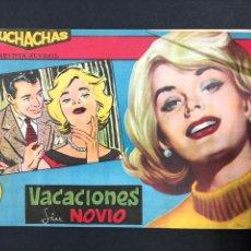 Tebeos: MUCHACHAS - VACACIONES SIN NOVIO - ORIGINAL DE 1960. Lote 196652611