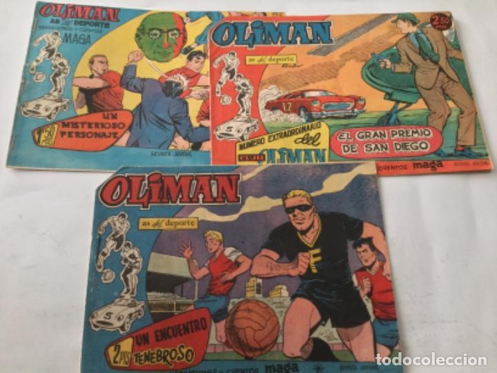 OLIMAN- 3 EJEMPLARES- 5-12-72 (Tebeos y Comics - Maga - Oliman)