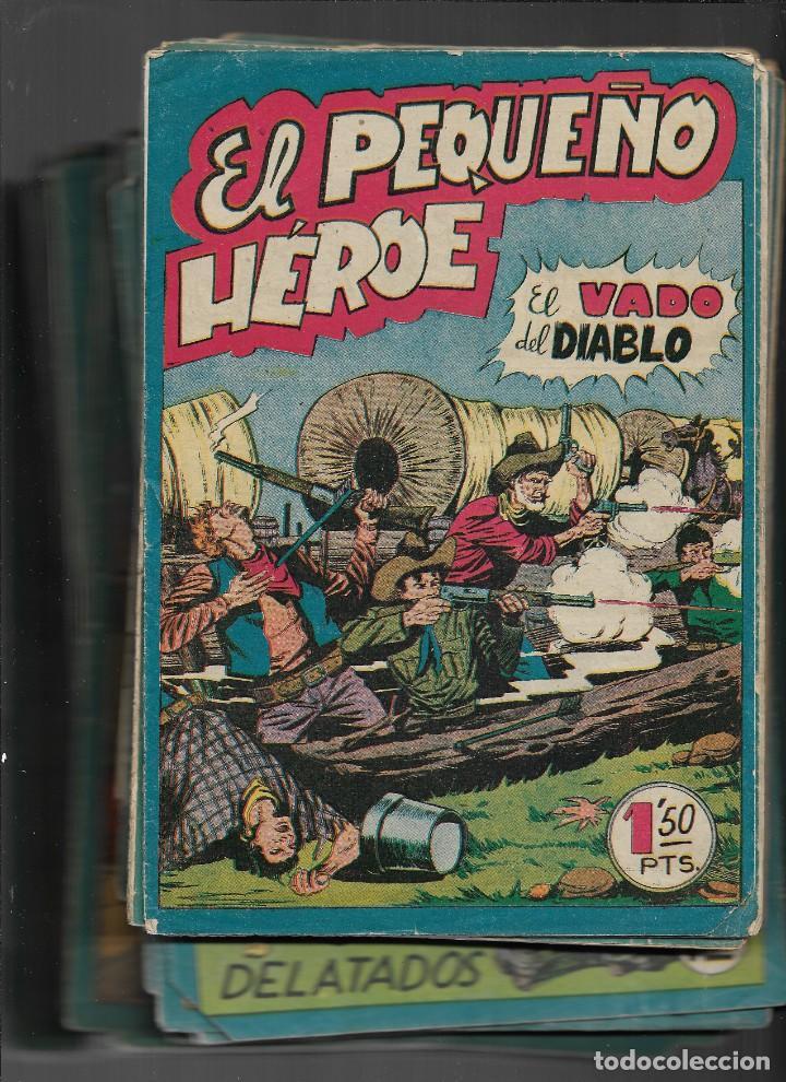 EL PEQUEÑO HÉROE. AÑO 1957. LOTE DE 78 TEBEOS SON ORIGINALES PORTADAS DE MIGUEL QUESADA. (Tebeos y Comics - Maga - Pequeño Héroe)