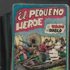 Tebeos: EL PEQUEÑO HÉROE. AÑO 1957. LOTE DE 78 TEBEOS SON ORIGINALES PORTADAS DE MIGUEL QUESADA.. Lote 197036060