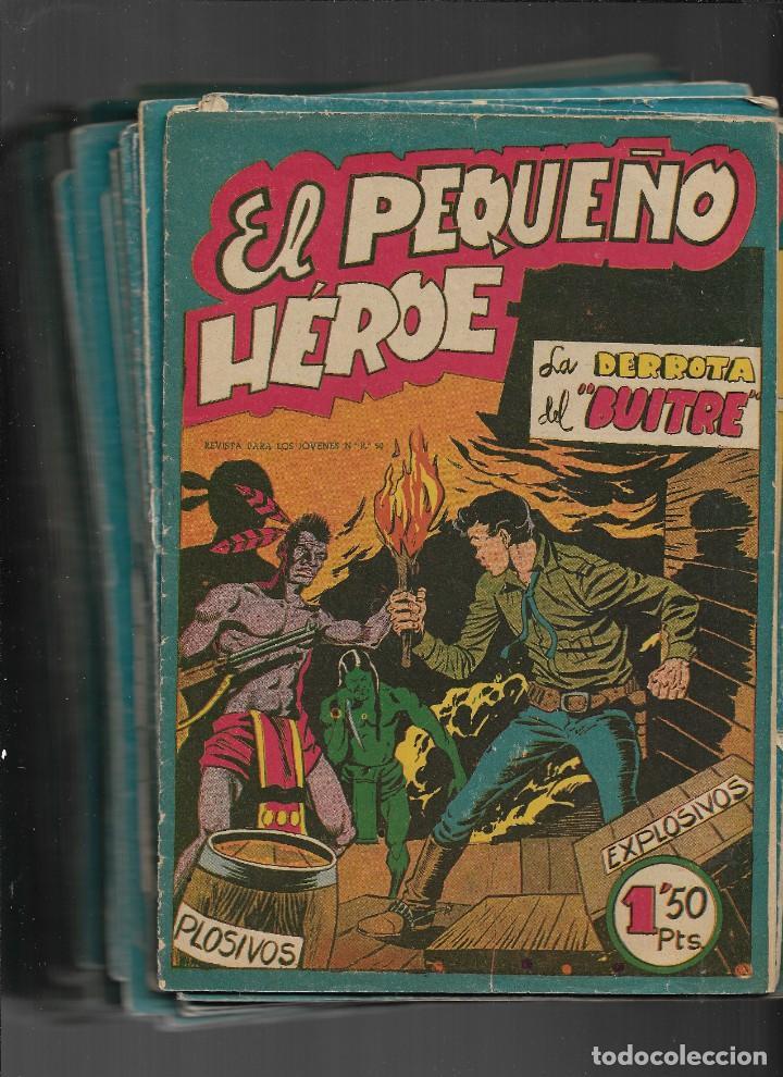 Tebeos: El Pequeño Héroe. Año 1957. Lote de 78 Tebeos son Originales portadas de Miguel Quesada. - Foto 2 - 197036060