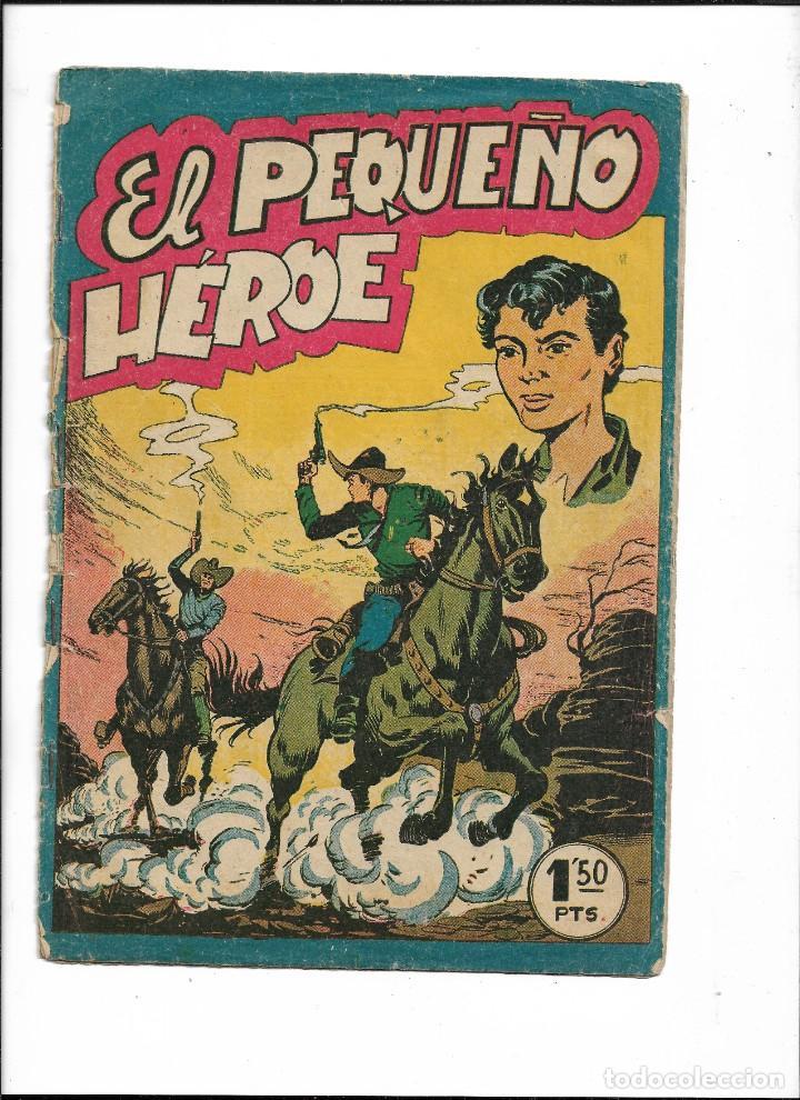 Tebeos: El Pequeño Héroe. Año 1957. Lote de 78 Tebeos son Originales portadas de Miguel Quesada. - Foto 3 - 197036060