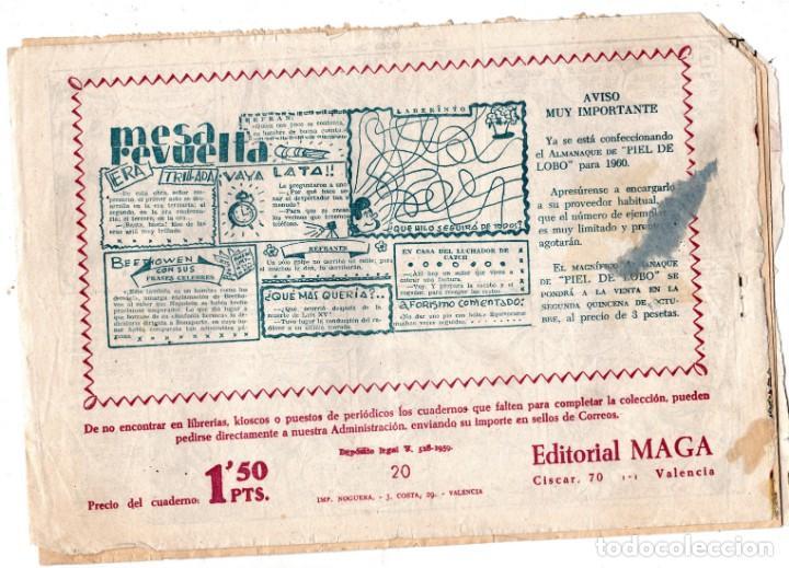 Tebeos: PIEL DE LOBO Nº 20, EDITORIAL MAGA - Foto 2 - 197885222