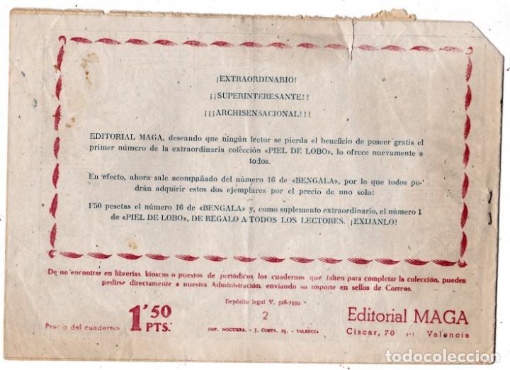 Tebeos: PIEL DE LOBO Nº 2, EDITORIAL MAGA - Foto 2 - 197885251