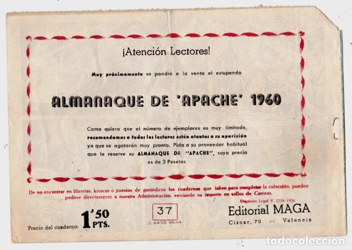 Tebeos: APACHE Nº 37 EDITORIAL MAGA ORIGINAL - Foto 2 - 198103038