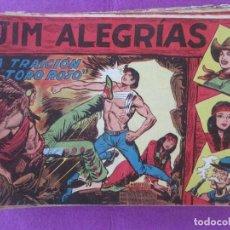 Tebeos: LOTE 44 TEBEOS JIM ALEGRIAS ED. MAGA 1960. Lote 198891552