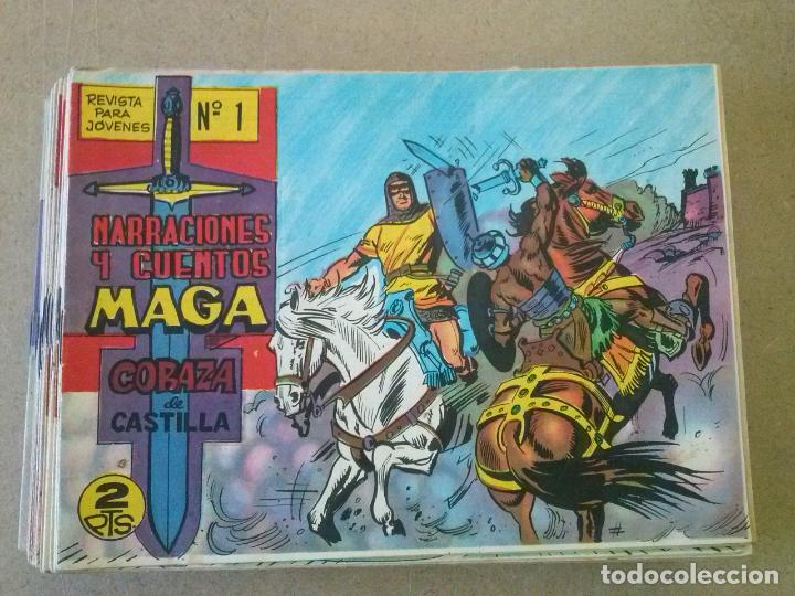 CORAZA DE CASTILLA -COMPLETA ,MAGA -ORIGINAL ,NºS 43 ( RESERVADA ) (Tebeos y Comics - Maga - Otros)