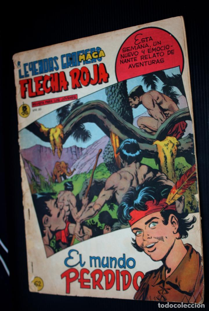 FLECHA ROJA Nº 62 - LEYENDAS GRÁFICAS (EDITORIAL MAGA 1962) (Tebeos y Comics - Maga - Flecha Roja)