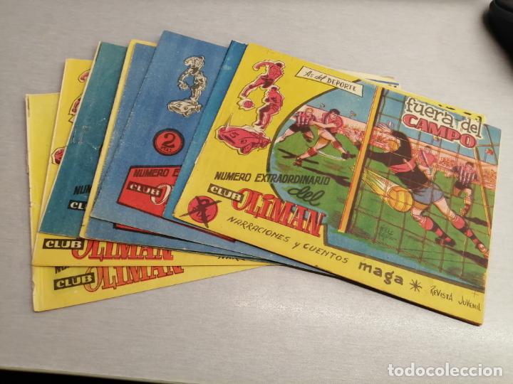 EXTRAORDINARIO DEL CLUB OLIMAN, AS DEL DEPORTE / LOTE CON 8 NÚMEROS / MAGA - BERNABÉU ORIGINAL (Tebeos y Comics - Maga - Oliman)
