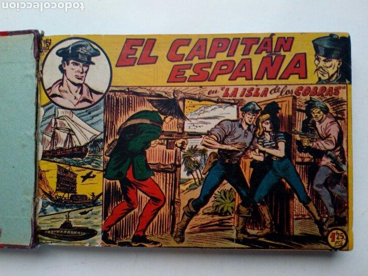 Tebeos: (LEER DESCRIPCION) EL CAPITAN ESPAÑA - encuadernado en un tomo - ORIGINAL, NO reedición - Ed. MAGA - Foto 2 - 205659380