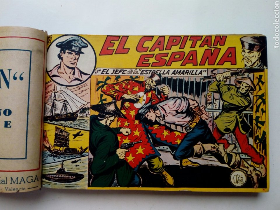 Tebeos: (LEER DESCRIPCION) EL CAPITAN ESPAÑA - encuadernado en un tomo - ORIGINAL, NO reedición - Ed. MAGA - Foto 6 - 205659380