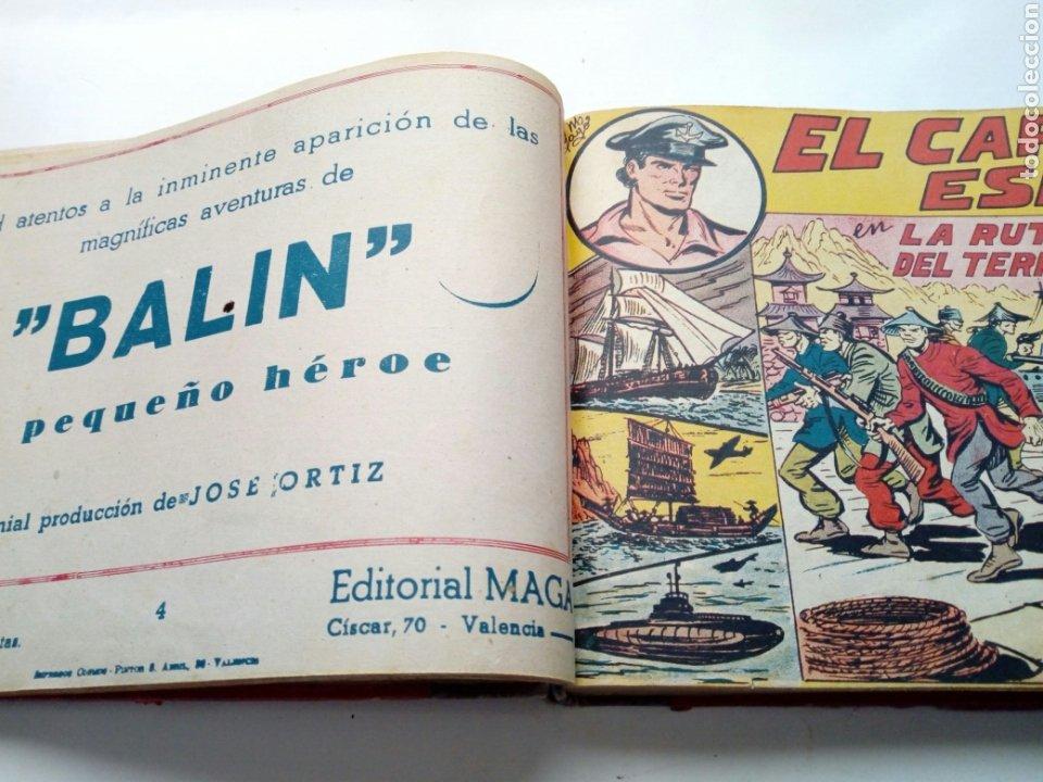 Tebeos: (LEER DESCRIPCION) EL CAPITAN ESPAÑA - encuadernado en un tomo - ORIGINAL, NO reedición - Ed. MAGA - Foto 8 - 205659380