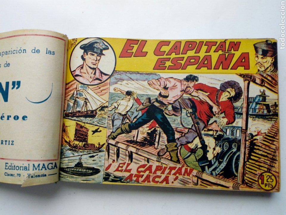Tebeos: (LEER DESCRIPCION) EL CAPITAN ESPAÑA - encuadernado en un tomo - ORIGINAL, NO reedición - Ed. MAGA - Foto 9 - 205659380
