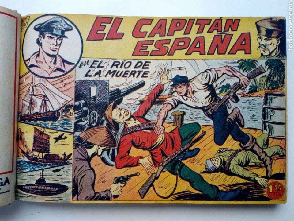 Tebeos: (LEER DESCRIPCION) EL CAPITAN ESPAÑA - encuadernado en un tomo - ORIGINAL, NO reedición - Ed. MAGA - Foto 10 - 205659380