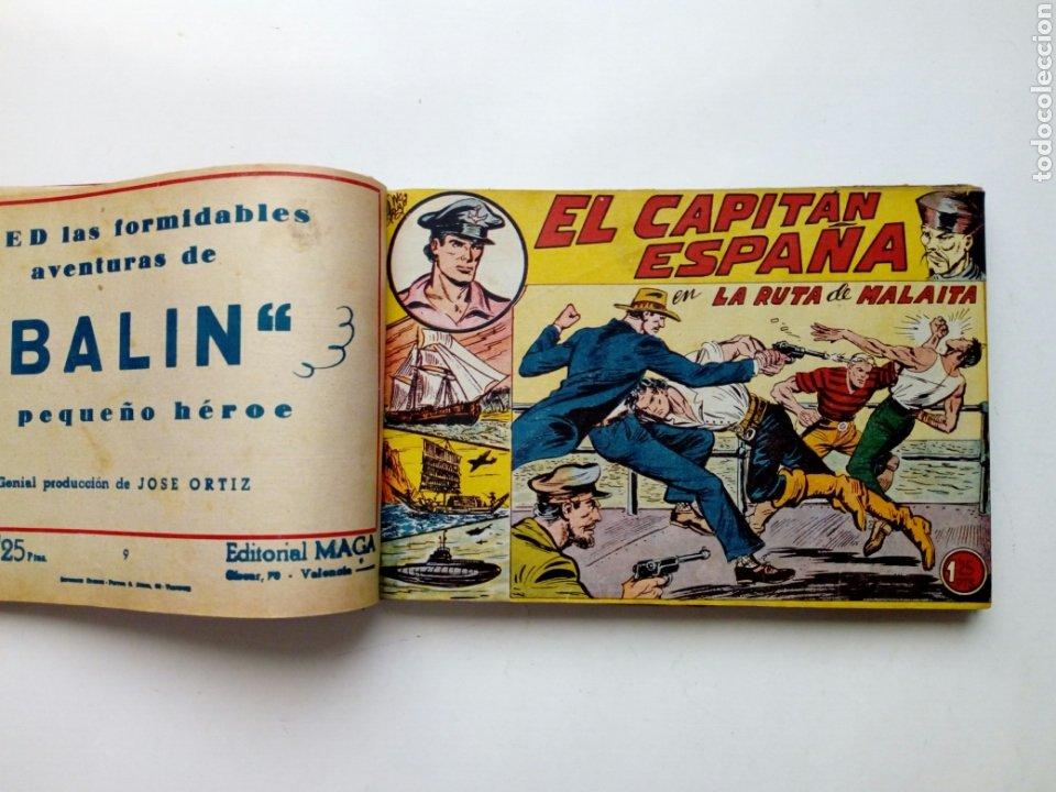 Tebeos: (LEER DESCRIPCION) EL CAPITAN ESPAÑA - encuadernado en un tomo - ORIGINAL, NO reedición - Ed. MAGA - Foto 11 - 205659380