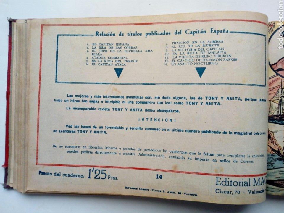 Tebeos: (LEER DESCRIPCION) EL CAPITAN ESPAÑA - encuadernado en un tomo - ORIGINAL, NO reedición - Ed. MAGA - Foto 12 - 205659380