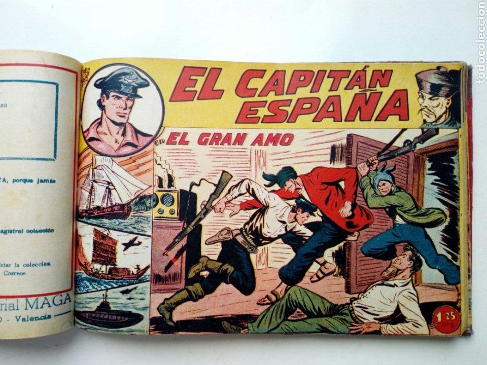 Tebeos: (LEER DESCRIPCION) EL CAPITAN ESPAÑA - encuadernado en un tomo - ORIGINAL, NO reedición - Ed. MAGA - Foto 15 - 205659380