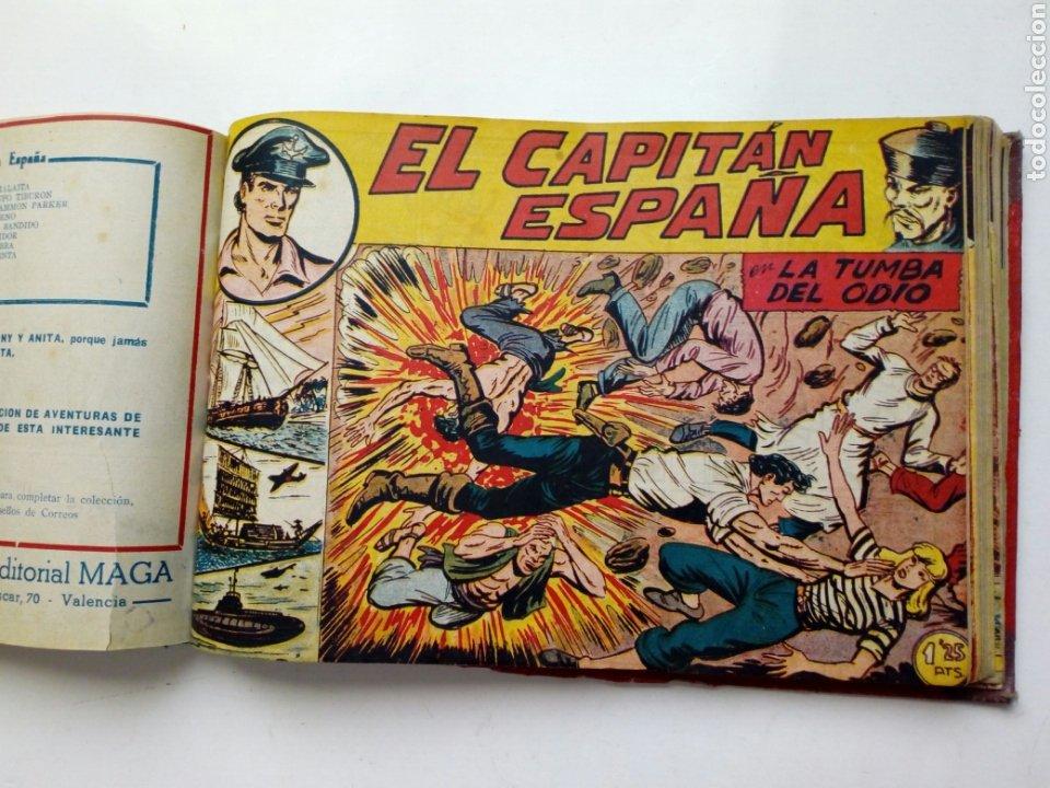 Tebeos: (LEER DESCRIPCION) EL CAPITAN ESPAÑA - encuadernado en un tomo - ORIGINAL, NO reedición - Ed. MAGA - Foto 16 - 205659380