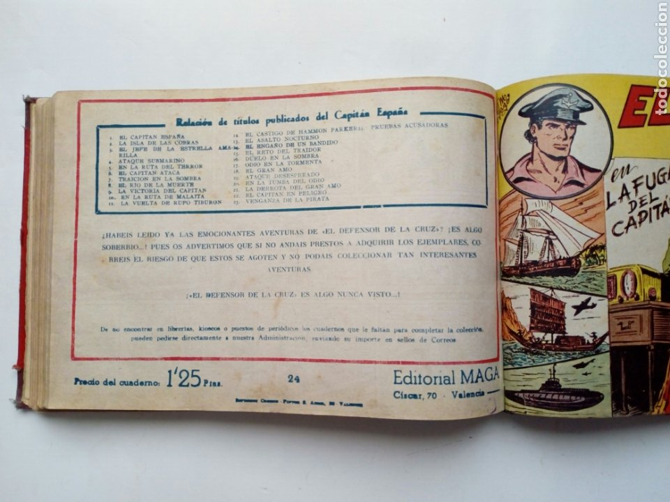 Tebeos: (LEER DESCRIPCION) EL CAPITAN ESPAÑA - encuadernado en un tomo - ORIGINAL, NO reedición - Ed. MAGA - Foto 18 - 205659380