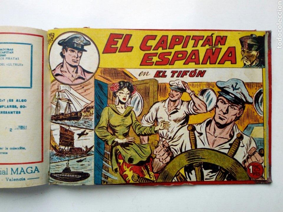 Tebeos: (LEER DESCRIPCION) EL CAPITAN ESPAÑA - encuadernado en un tomo - ORIGINAL, NO reedición - Ed. MAGA - Foto 19 - 205659380