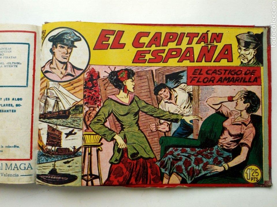 Tebeos: (LEER DESCRIPCION) EL CAPITAN ESPAÑA - encuadernado en un tomo - ORIGINAL, NO reedición - Ed. MAGA - Foto 21 - 205659380