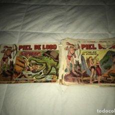 Tebeos: LOTE DE PIEL DE LOBO ORIGINAL EDI. MAGA 1959. Lote 205668405