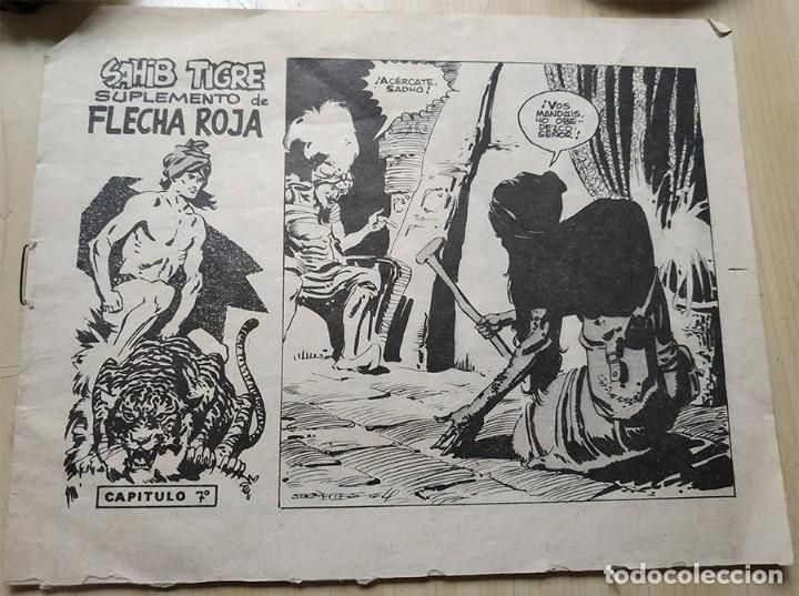 SAHIB TIGRE SUPLEMENTO DE FLECHA ROJA CAPITULO 7 SEGRELLES 64 (Tebeos y Comics - Maga - Otros)