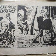 Tebeos: SAHIB TIGRE SUPLEMENTO DE FLECHA ROJA CAPITULO 7 SEGRELLES 64. Lote 206444512