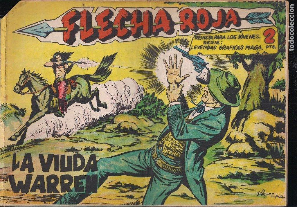 FLECHA ROJA Nº 74: LA VIUDA WARREN (Tebeos y Comics - Maga - Flecha Roja)