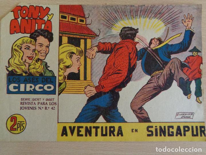 TONY Y ANITA Nº 58. AVENTURA EN SINGAPUR EDITA MAGA. BUEN ESTADO (Tebeos y Comics - Maga - Tony y Anita)