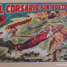 Tebeos: EL CORSARIO SIN ROSTRO Nº 23.NAUFRAGIO. ORIGINAL. EDITA MAGA. BUEN ESTADO. Lote 207016833