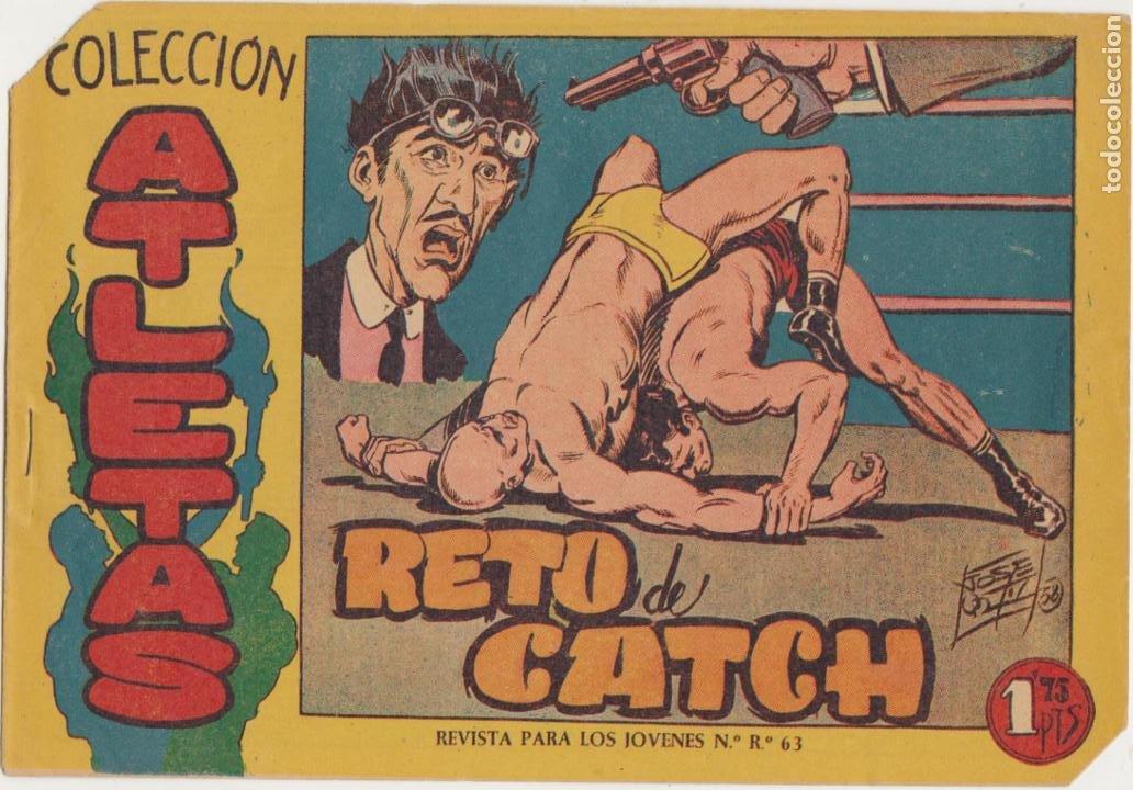 COLECCIÓN ATLETAS Nº 4. MAGA 1958. LOTE DE 2 EJEMPLARES SIN ABRIR (Tebeos y Comics - Maga - Otros)