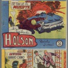 Tebeos: 4 REVISTAS JUVENIL POR H.OLSON MISION AUDAZ,EL CRIMEN DEL HIPODROMO,EL TREN DE LA MUERTE,MAGA 1964. Lote 211451424
