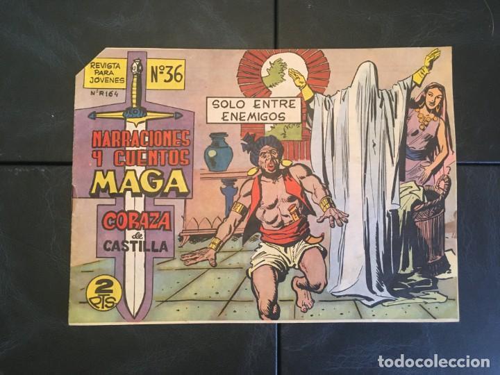 COMIC NARRACIONES Y CUENTOS MAGA,Nº 36 SERIE CORAZA DE CASTILLA DE EDITORIAL MAGA (Tebeos y Comics - Maga - Otros)