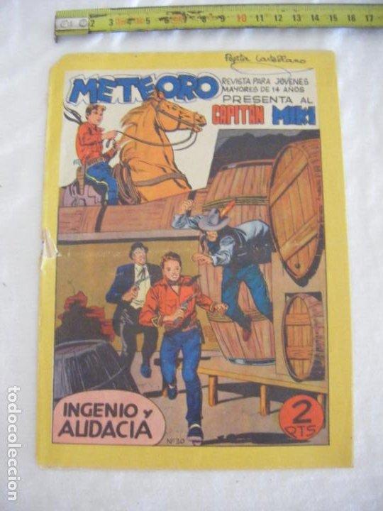JML MAGA METEORO REVISTA PARA JOVENES MAYORES DE 14 AÑOS CAPITAN MIKI Nº 30 2 PESETAS VER FOTOS (Tebeos y Comics - Maga - Otros)