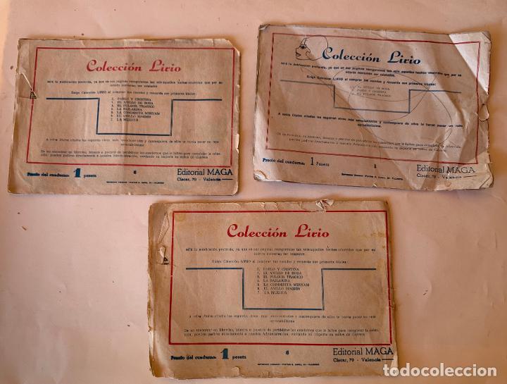 Tebeos: COMIC ORIGINAL COLECCION LIRIO . MAGA ,VALENCIA . NUMEROS 1 Y 8 . - Foto 2 - 213338621