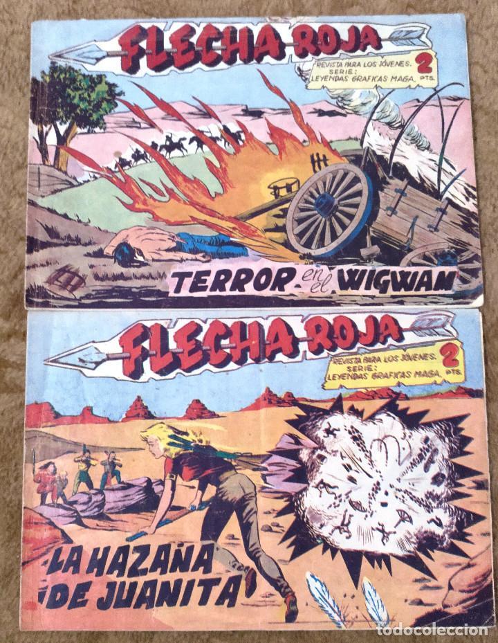 FLECHA ROJA Nº 29 Y 40 (MAGA 1.962) 2 TEBEOS (Tebeos y Comics - Maga - Flecha Roja)