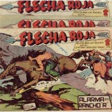 BDs: * FLECHA ROJA. Nº 22, 50, 65, * ORIGINALES *EDITORIAL MAGA, 1962.*. Lote 213909153