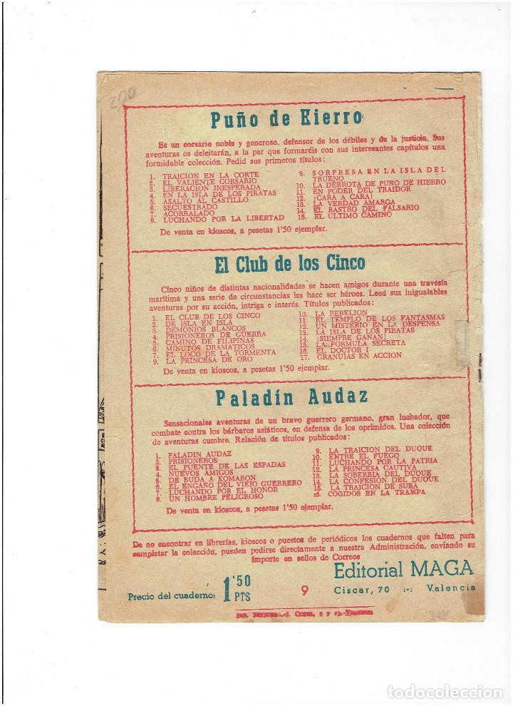 Tebeos: * EL PEQUEÑO HEROE * Nº 9 ORIGINAL * EDITORIAL MAGA 1957 * - Foto 2 - 213978136