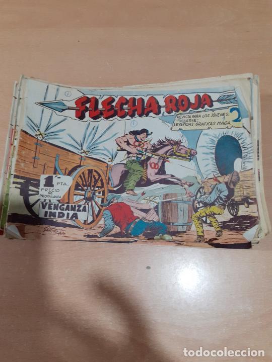 FLECHA ROJA MAGA 1962- LOTE DE 64 NÚMEROS DE 79 COMPLETA (Tebeos y Comics - Maga - Flecha Roja)