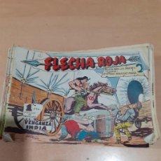 BDs: FLECHA ROJA MAGA 1962- LOTE DE 64 NÚMEROS DE 79 COMPLETA. Lote 215569793